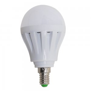 7W E14 LED Light Bulb 600LM Plastic Shell Standard Globe Shape