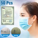 50Pcs 3Ply ADULTS DISPOSABLE SURGICL EARLOOP ANTI-DUST FACE MASK