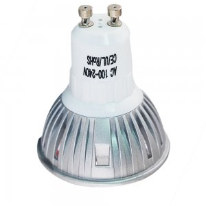 3W GU10 LED Spotlight Bulbs Cast Iron Shell 150LM