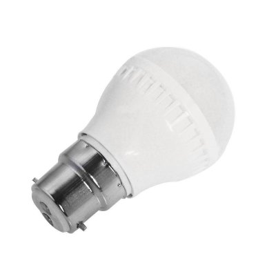3W B22 LED Light Bulb 180LM Plastic Shell Standard Globe Shape