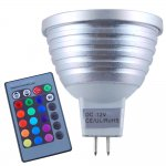 MR16 3W RGB LED Spotlight Bulb Aluminum Shell 160LM