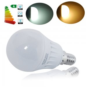 5W E14 LED Light Bulb 380LM Plastic Shell Standard Globe Shape