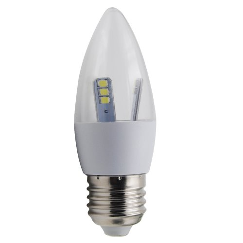 5W E27 LED Light Bulb 280LM Plastic Shell Candle Shape