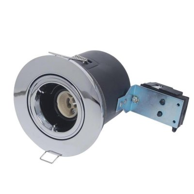 GU10 LED Downlight Fitting IP20-Dimmable Degree-Chrome