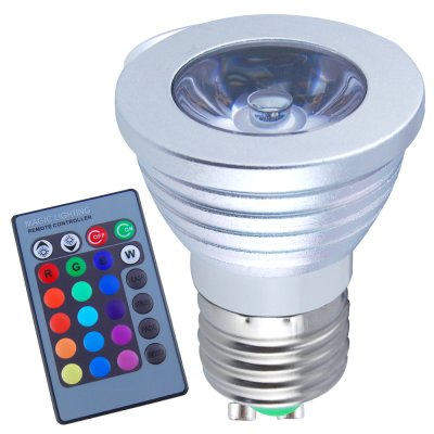 3W E27 RGB LED Light Bulb 160LM With Control Remote