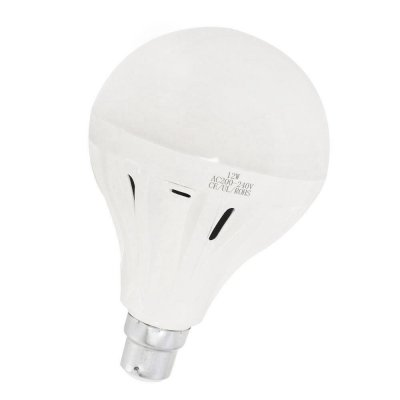 12W B22 LED Light Bulb 1200LM Plastic Shell Standard Globe Shape