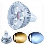 MR16 3WLED Spotlight Bulb 12V Cast Iron Shell 150LM