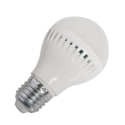 5W E27 LED Light Bulb 330LM Plastic Shell Standard Globe Shape