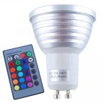 3W GU10 RGB LED Spotlight 16 Color Changing Bulbs Control Remote
