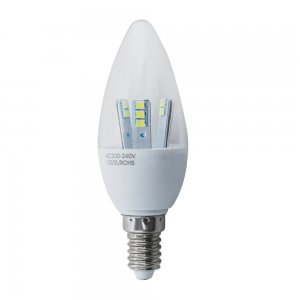 5W E14 LED Light Bulb 280LM Plastic Shell Candle Shape