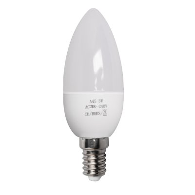 3W E14 LED Light Bulbs 240LM Plastic Shell Candle Shape Light