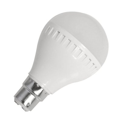 7W B22 LED Light Bulb 440LM Plastic Shell Standard Globe Shape