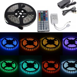 5M 5040 SMD LED RGB Strip Light Kit 60 Lights/M