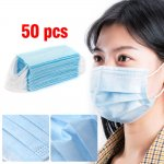 50X Disposable Face Mask Anti Flu Dust 3 Layer Masks Protective